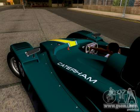 Caterham Lola SP300R para GTA San Andreas vista hacia atrás