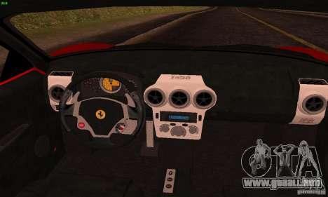 Ferrari F430 v2.0 para visión interna GTA San Andreas