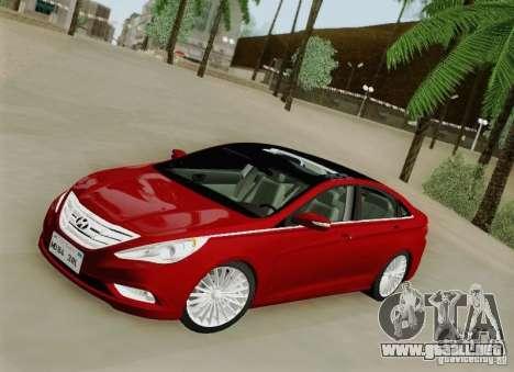 Hyundai Sonata 2012 para vista lateral GTA San Andreas