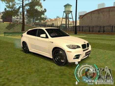 BMW X6 M Hamann Design para la visión correcta GTA San Andreas
