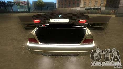 BMW E46 M3 Coupe 2004M para visión interna GTA San Andreas
