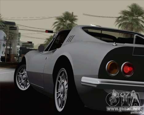 Ferrari 246 Dino GTS para vista inferior GTA San Andreas