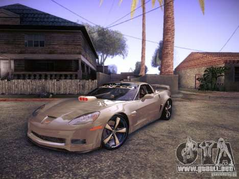 Chevrolet Corvette C6 Z06 Tuning para GTA San Andreas left