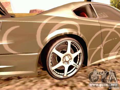 Nissan Silvia S15 By Blaze para GTA San Andreas vista posterior izquierda