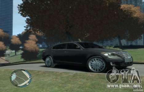 Hyundai Genesis Sedan Elite para GTA 4 Vista posterior izquierda