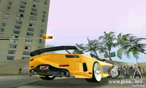Mazda RX7 VeilSide para GTA Vice City vista posterior