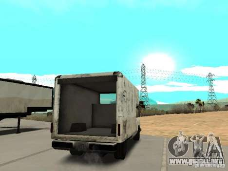 New Benson para GTA San Andreas vista posterior izquierda
