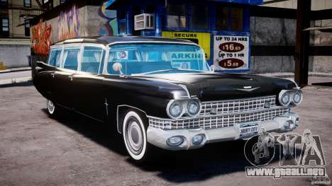 Cadillac Miller-Meteor Hearse 1959 para GTA 4 visión correcta