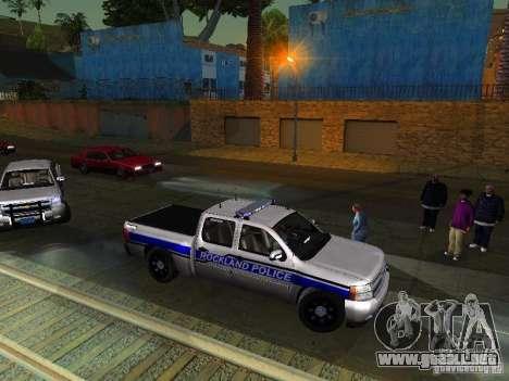Chevrolet Silverado Rockland Police Department para GTA San Andreas left