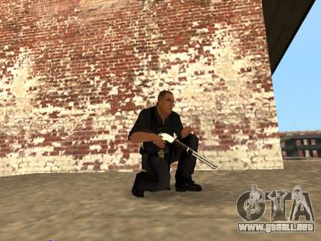 Chrome and Blue Weapons Pack para GTA San Andreas quinta pantalla
