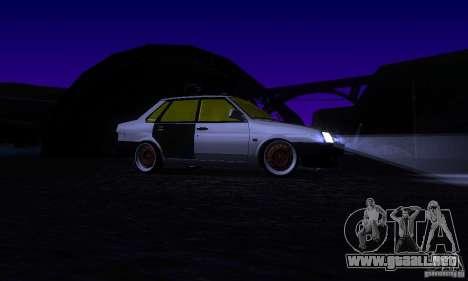 VAZ 21099 rata Mira para vista lateral GTA San Andreas