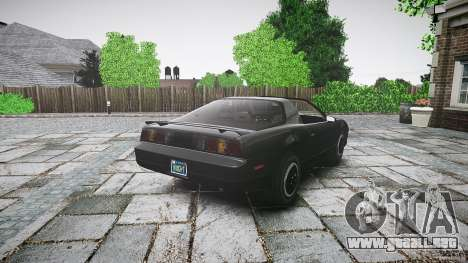 KITT Knight Rider para GTA 4 vista superior