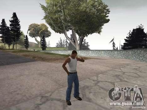La capacidad de humo para GTA San Andreas tercera pantalla