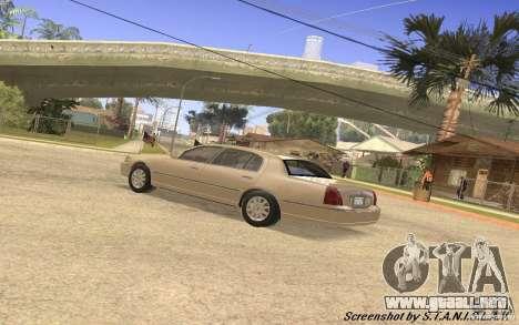 Lincoln Towncar Secret Service para visión interna GTA San Andreas