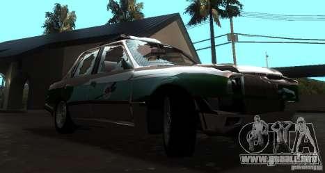 BMW E30 Sedan Police para GTA San Andreas vista hacia atrás
