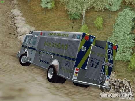 Pierce Fire Rescues. Bone County Hazmat para visión interna GTA San Andreas