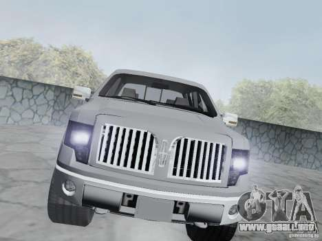 Lincoln Mark LT 2013 para GTA San Andreas vista hacia atrás