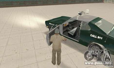 Plymouth Duster 340 Police para GTA San Andreas vista hacia atrás