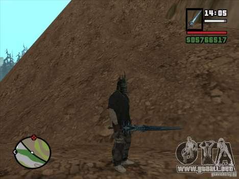 Frostmorn-espada de WoW Lich King para GTA San Andreas sucesivamente de pantalla