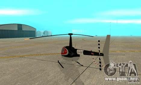 Robinson R44 Raven II NC 1.0 piel 2 para la visión correcta GTA San Andreas