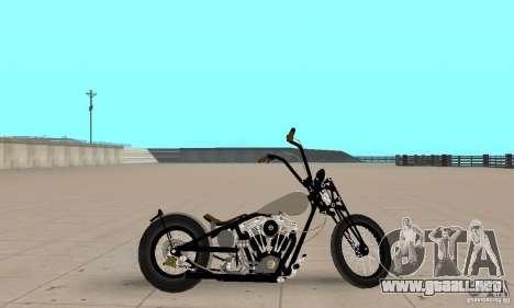 HD Shovelhead Chopper v2.1-cromo para GTA San Andreas vista posterior izquierda