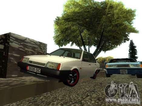 VAZ 21099 v. 2 para la visión correcta GTA San Andreas