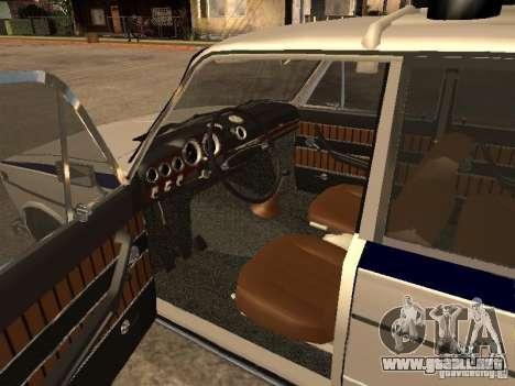 Policía VAZ 2103 para GTA San Andreas vista posterior izquierda