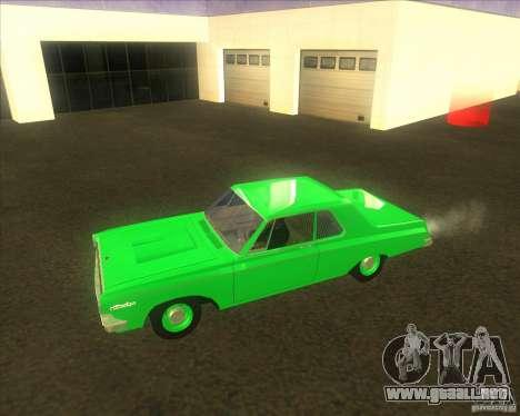 Dodge 330 1963 Max Wedge Ramcharger para GTA San Andreas vista posterior izquierda