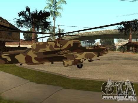Nuevas texturas para el cazador para GTA San Andreas vista posterior izquierda