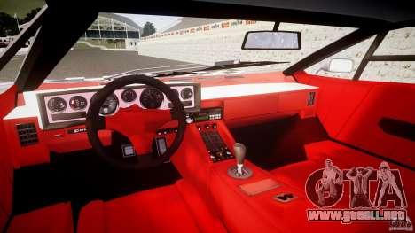 Lamborghini Countach para GTA 4 vista hacia atrás
