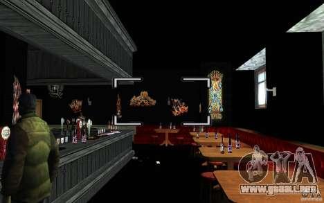 New Bar para GTA San Andreas quinta pantalla