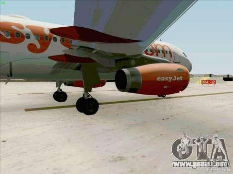Airbus A319 Easyjet para visión interna GTA San Andreas
