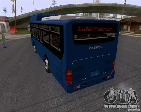 Daewoo Bus BAKU para GTA San Andreas left
