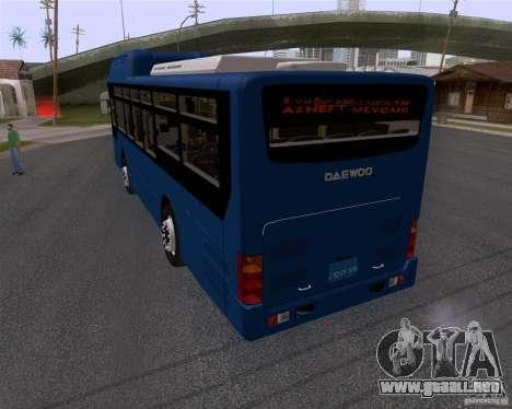 Daewoo Bus BAKU para GTA San Andreas left