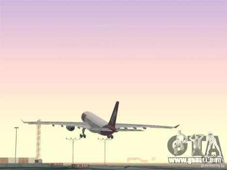 Airbus A330-223 TAM Airlines para las ruedas de GTA San Andreas