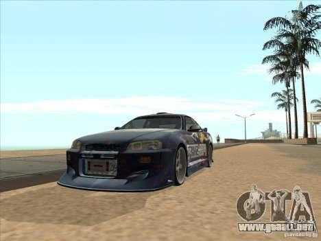 Nissan Skyline R34 VeilSide para la visión correcta GTA San Andreas