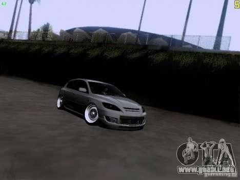 Mazda Speed 3 Stance para GTA San Andreas vista hacia atrás