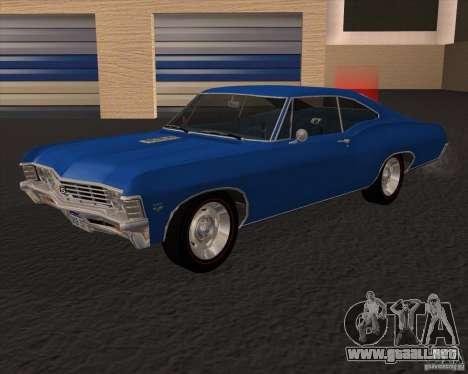Chevrolet Impala 427 SS 1967 para GTA San Andreas