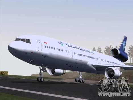 McDonnell Douglas MD-11 Garuda Indonesia para visión interna GTA San Andreas