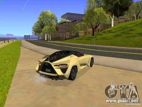 Bertone Mantide para GTA San Andreas vista posterior izquierda