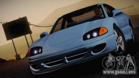 Dodge Stealth RT Twin Turbo 1994 para la vista superior GTA San Andreas