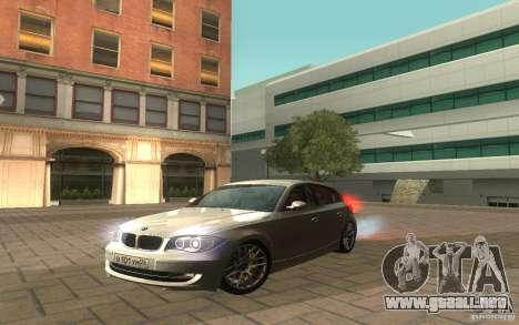 BMW 120i para la visión correcta GTA San Andreas