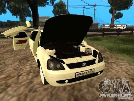 LADA Priora 2170 Limousine para vista lateral GTA San Andreas