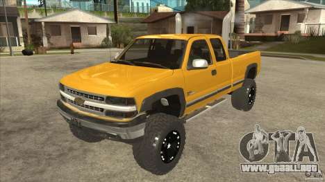 Chevrolet Silverado 2500 Lifted para GTA San Andreas