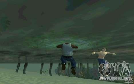 Las personas son capaces de nadar para GTA San Andreas quinta pantalla