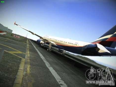 Aeroflot Russian Airlines Airbus A320 para GTA San Andreas vista posterior izquierda