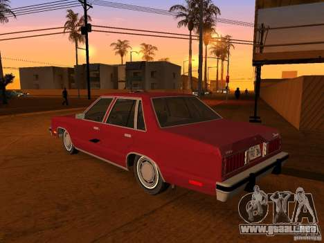 Ford Fairmont 4dr 1978 para GTA San Andreas left
