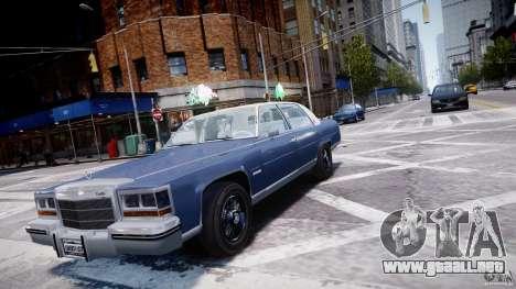 Cadillac Fleetwood Brougham 1985 para GTA 4 vista hacia atrás