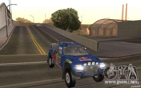 Volkswagen Race Touareg para GTA San Andreas vista hacia atrás