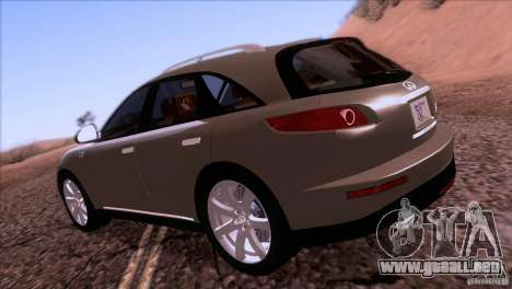Infiniti FX45 2007 para la visión correcta GTA San Andreas